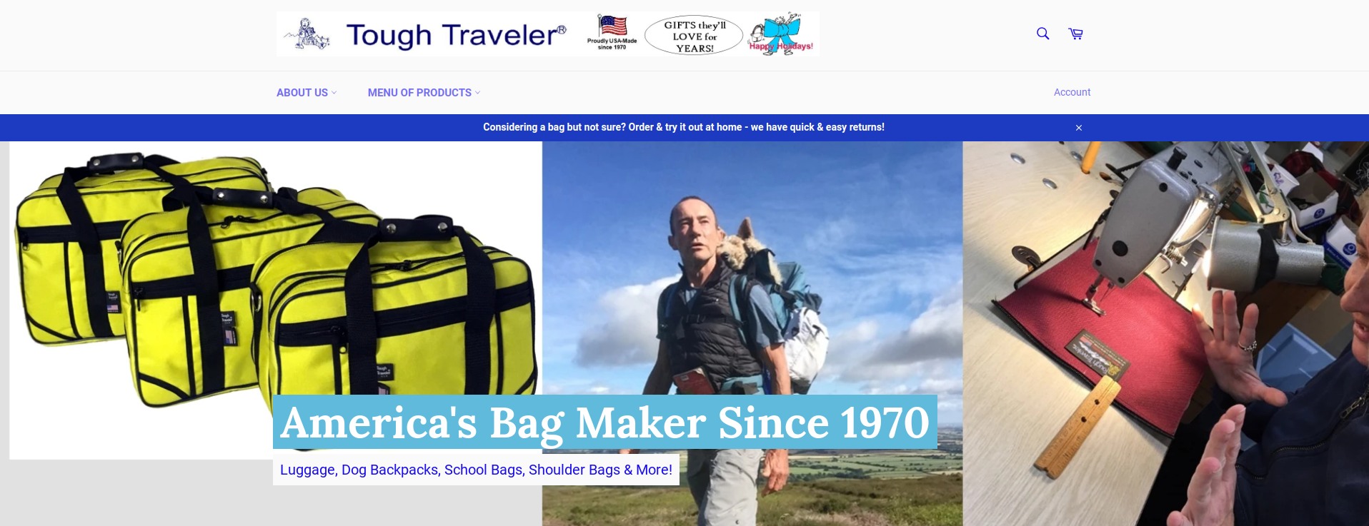 Featured Manufacturer: Tough Traveler Schenectady NY